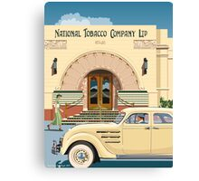 Art Deco Napier Tobacco Building with Chrysler Airflow Canvas Print