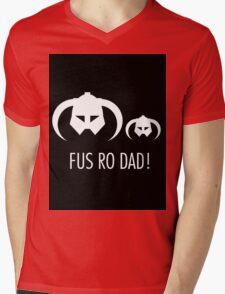 FUS RO DAD! Mens V-Neck T-Shirt