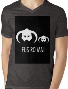 FUS RO MA! Mens V-Neck T-Shirt