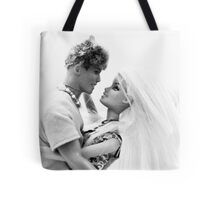 Ken and Barbie Fall In Love Tote Bag
