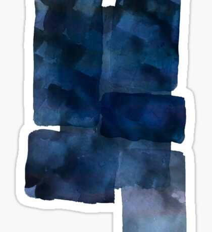 Blue Abstract Painting Sticker