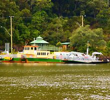wisemans ferry car barge  by warren dacey