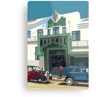 Art Deco Napier Masonic Hotel Metal Print