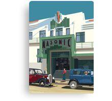 Art Deco Napier Masonic Hotel Canvas Print