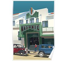 Art Deco Napier Masonic Hotel Poster