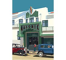 Art Deco Napier Masonic Hotel Photographic Print