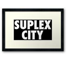Suplex City Framed Print