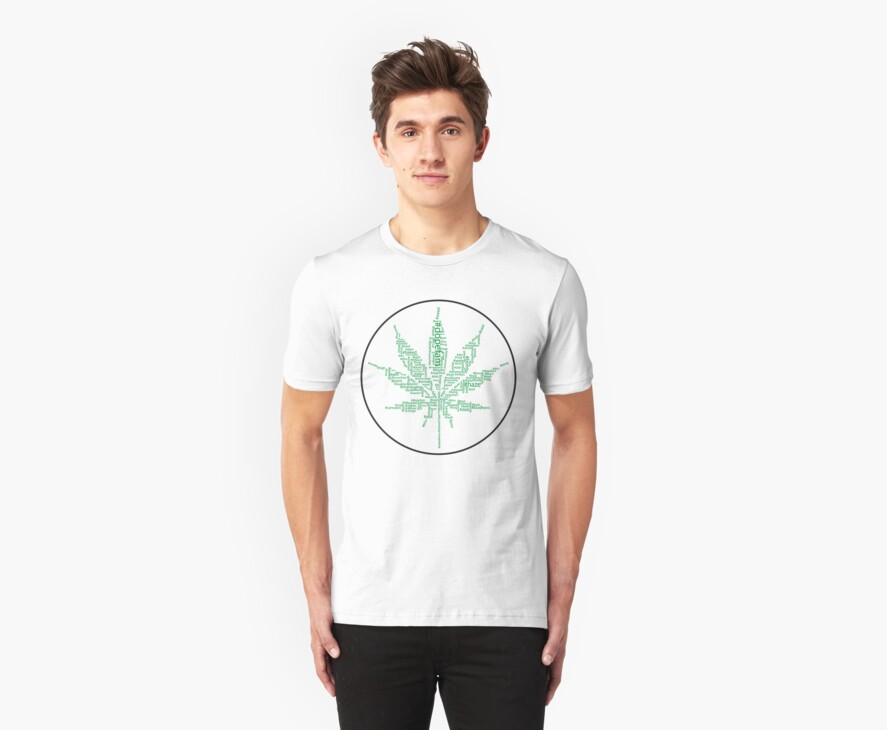 The instagram #tag weed Tee by Dutch1370