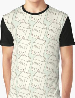 Cute Milk Graphic T-Shirt