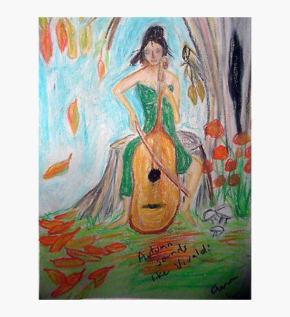 Sembra che l'autunno Vivaldi  Photographic Print