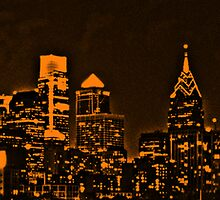Philadelphia Skyline Panorama - Flyers by John Brady