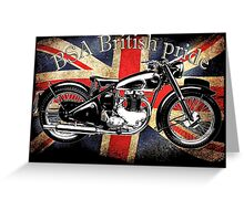 Vintage Classic British BSA Motorcycle Icon Greeting Card