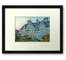 Balconies To Overlook The Ocean, Newport, Rhode Island Framed Print
