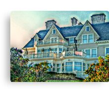 Balconies To Overlook The Ocean, Newport, Rhode Island Canvas Print