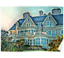 Balconies To Overlook The Ocean, Newport, Rhode Island Poster