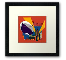 Zeppelin Rides are Just a Universe Away Framed Print