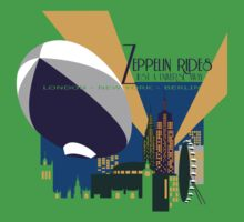 Zeppelin Rides are Just a Universe Away Kids Clothes