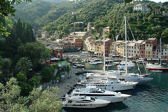 Portofino Harbour with Yachts, Italy by Eros Fiacconi (Sooboy)