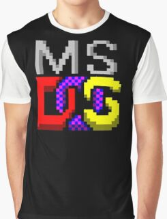 MS-DOS Icon Retro Pixel Computer Symbol Graphic T-Shirt