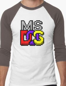 MS-DOS Icon Retro Pixel Computer Symbol Men's Baseball ¾ T-Shirt