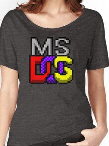 MS-DOS Icon Retro Pixel Computer Symbol Women's Relaxed Fit T-Shirt
