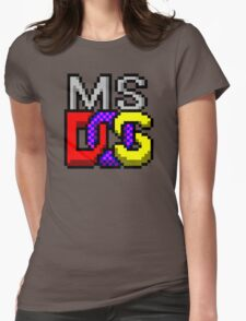 MS-DOS Icon Retro Pixel Computer Symbol Womens Fitted T-Shirt