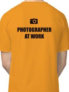Photographer At Work - Light Classic T-Shirt