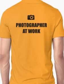Photographer At Work - Light T-Shirt