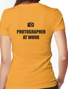 Photographer At Work - Light Womens Fitted T-Shirt
