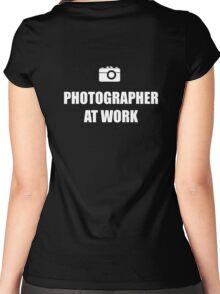 Photographer At Work - Dark Women's Fitted Scoop T-Shirt