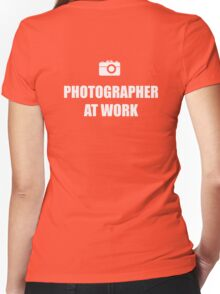 Photographer At Work - Dark Women's Fitted V-Neck T-Shirt