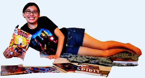Geeky Pin-Up: Comic Book Girl by geekybombshell