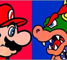 Mario vs King Koopa Photographic Print