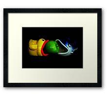 Apple Sucker Framed Print