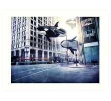 City of whales Art Print