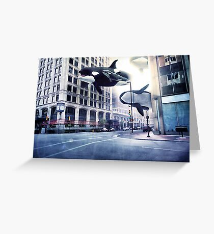 City of whales Greeting Card
