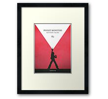 A Monster in your Pocket (Red Version) Framed Print