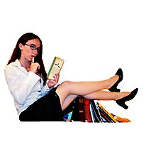 Geeky Pin-Up: Librarian  Photographic Print