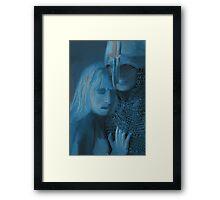 Im a little blue Framed Print