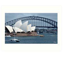 Australia, Sydney opera house Art Print
