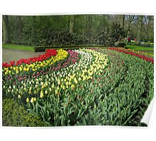 Arcs of Colour - Keukenhof Gardens Poster