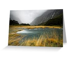 Fiordland Torrent Greeting Card