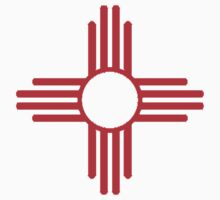 Zia..The New Mexico (USA) Flag by Richard  Gerhard