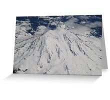 Mt. Rainier Fly Over Greeting Card