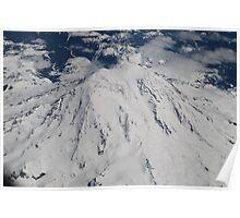 Mt. Rainier Fly Over Poster