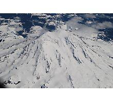 Mt. Rainier Fly Over Photographic Print