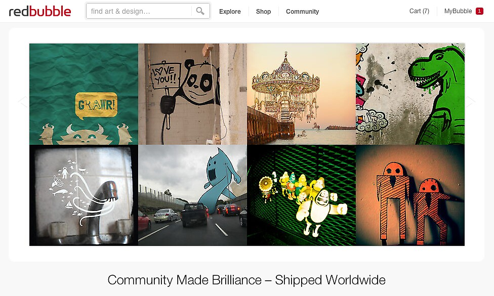 3 May 2012 by The RedBubble Homepage