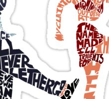 I'll never tell typography Sticker