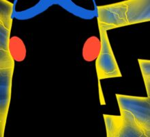 Super Smash Bros. Blue/Goggles Pikachu Silhouette Sticker