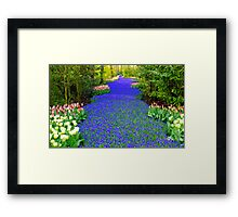 the blue river Framed Print